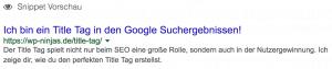 Der Title Tag in den Google Suchergebnissen