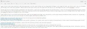 Screenshot wie man im Texteditor von WordPress Überschriften einfügt