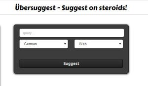 Übersuggest Keyword Tool Screenshot
