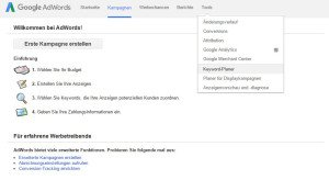 Google Keyword Planer Screenshot