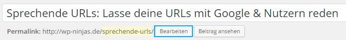 Sprechende URLs in WordPress eingeben
