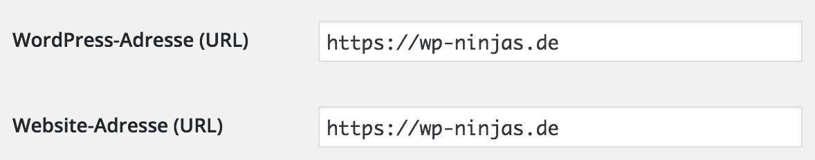 WordPress HTTPS Umstellung der Adressen