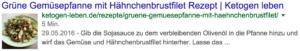 Google Search Console Rich-Karten Rezepte Snippet