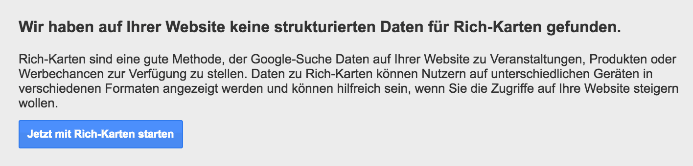 Google Search Console Rich Karten