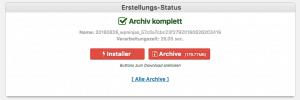 WordPress umziehen - Duplicator Dateien herunterladen
