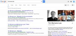 SERPs Infobox Tim Berners Lee