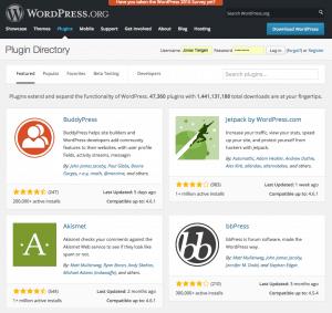 Offizielles WordPress Pluginverzeichnis
