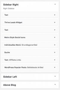 Was ist eine Sidebar - WordPress - Beispiele