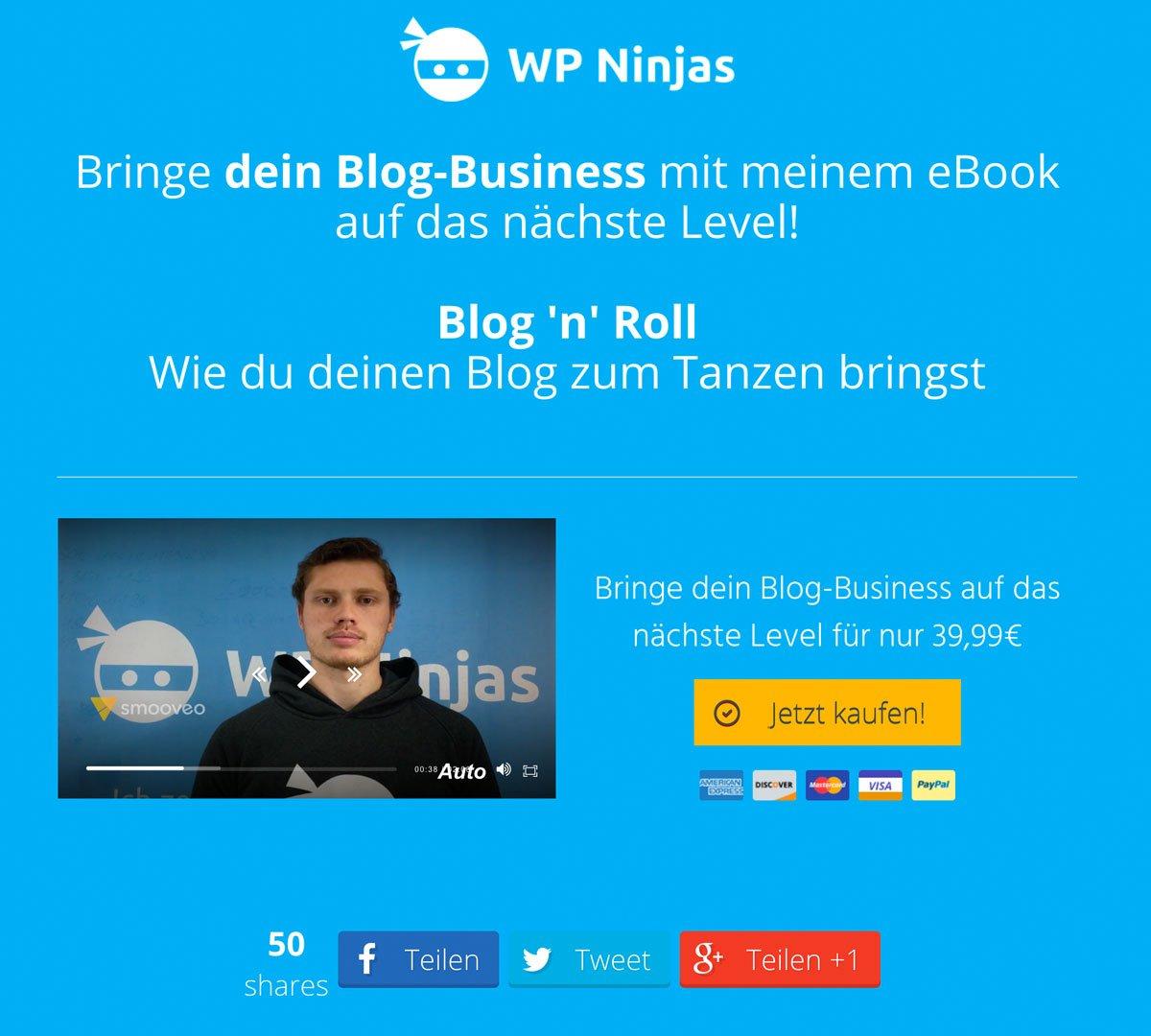 Eine WordPress Landingpage für die Produktbewerbung