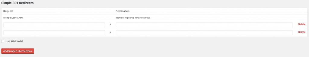 WordPress Weiterleitungen mit Simple 301 Redirects
