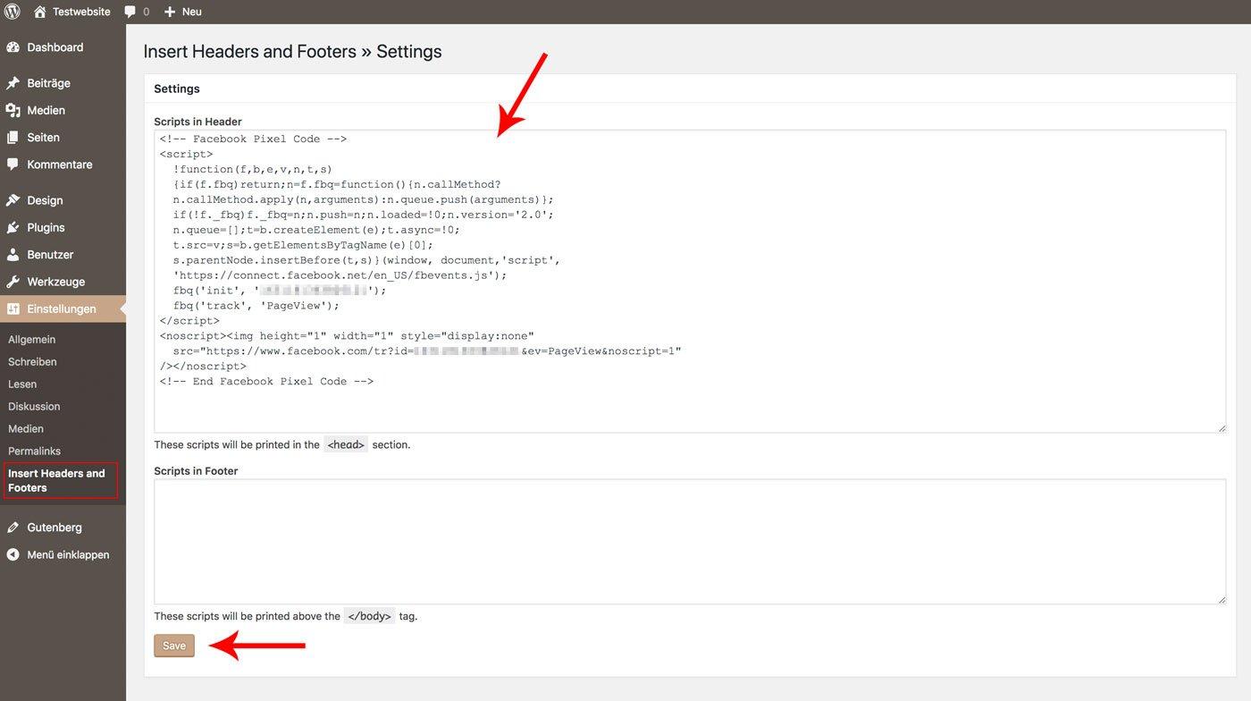 Facebook Pixel mit Plugin in WordPress einfügen