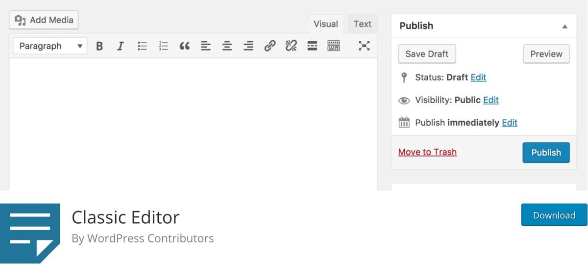 Classic Editor Plugin Titelbild