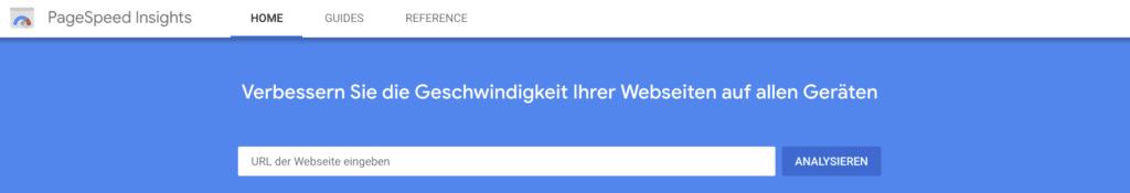 Google Pagespeed Insights zum Messen der Website Ladezeit