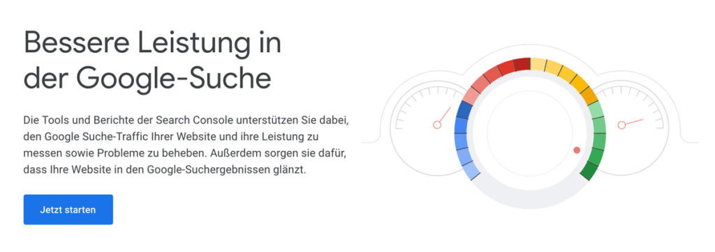 Google Search Console Screenshot Homepage