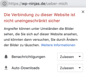 WordPress HTTPS nicht sicher