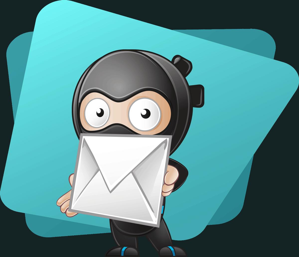 Ninja Icon mit Briefumschlag