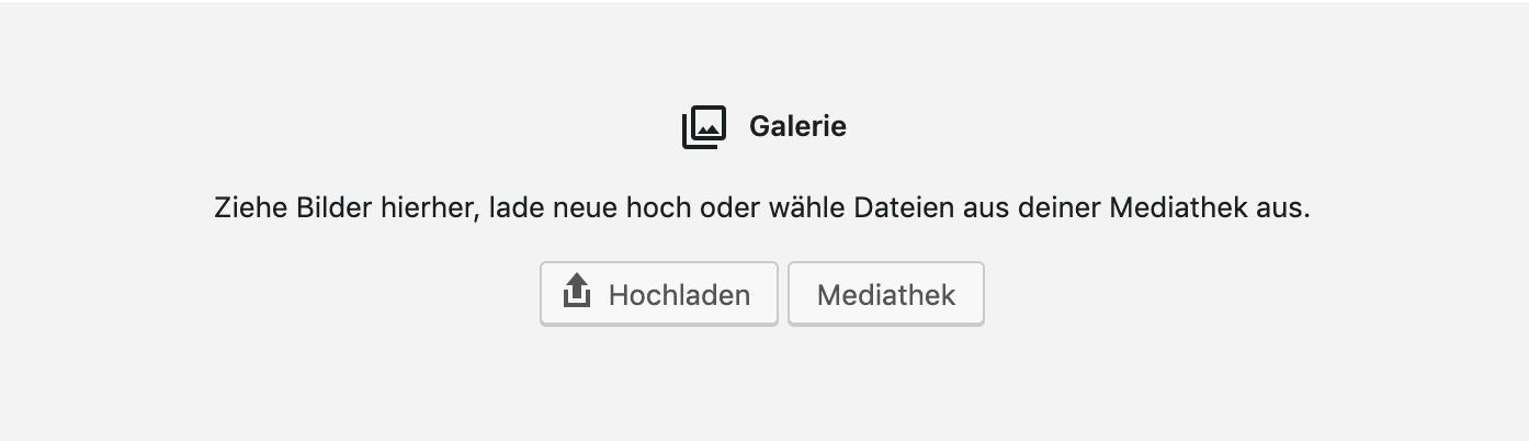 WordPress Galerie Block ohne Bilder