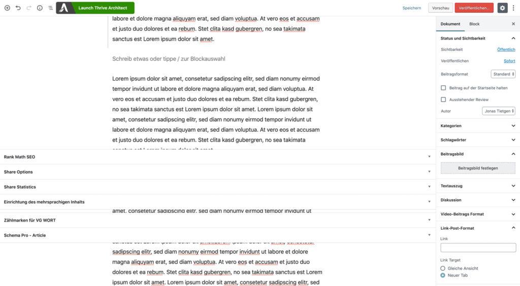 Probleme im Gutenberg Editor und Google Chrome 77