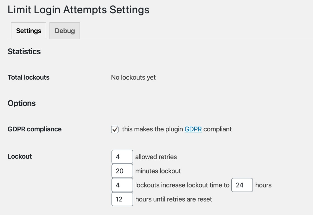 Limit Login Attempts Reloaded Plugin zur Absicherung des WordPress Logins