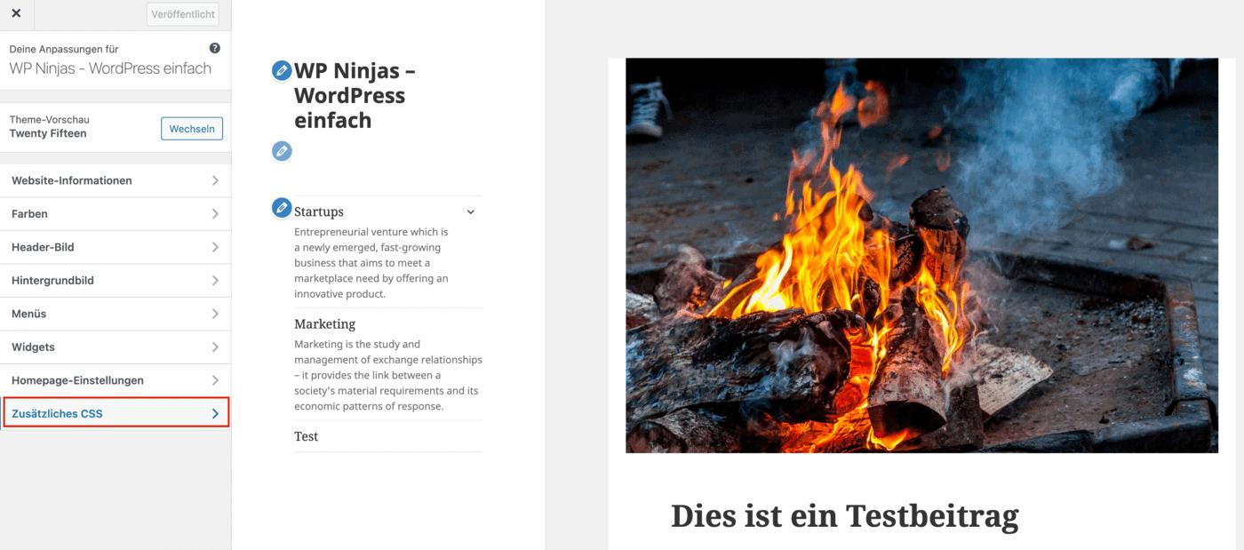 WordPress Beitragsbild ausblenden - Schritt 2