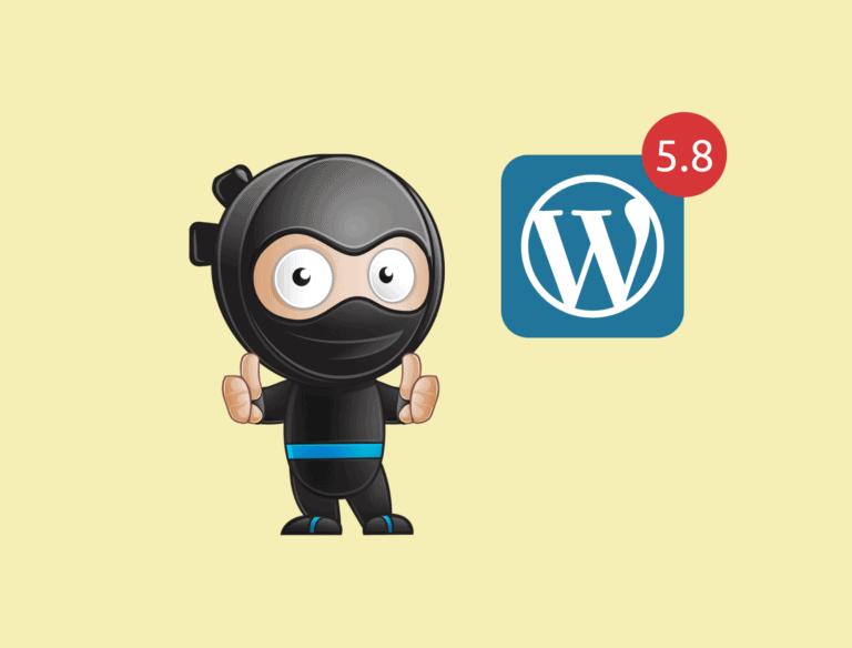 wordpress 5.8 header