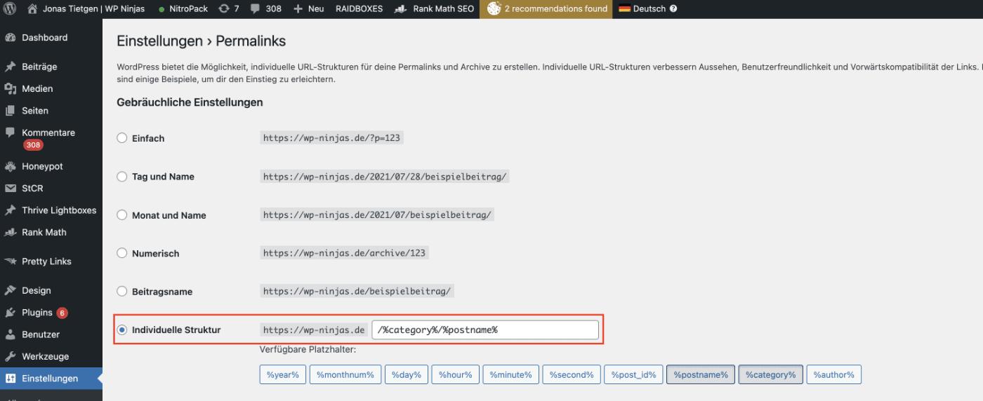 """So entfernst du das Wort """"Category"""" aus deiner WordPress Permalinkstruktur"""